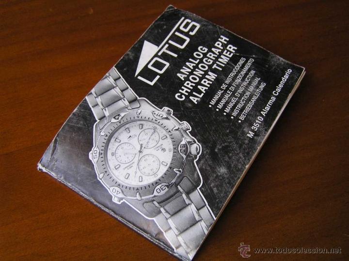 Herramientas de relojes: MANUAL DE INSTRUCCIONES DEL RELOJ LOTUS ANALOG CHRONOGRAPH ALARM TIMER M3510 WATCH - Foto 2 - 39981762