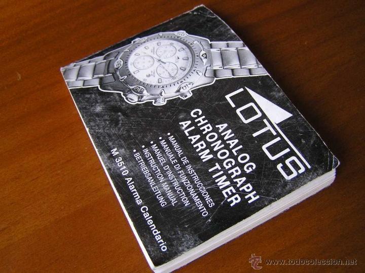 Herramientas de relojes: MANUAL DE INSTRUCCIONES DEL RELOJ LOTUS ANALOG CHRONOGRAPH ALARM TIMER M3510 WATCH - Foto 5 - 39981762
