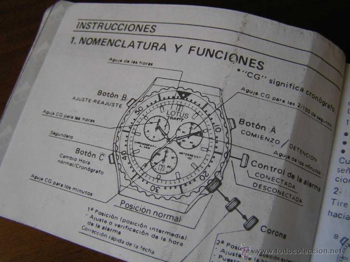 Herramientas de relojes: MANUAL DE INSTRUCCIONES DEL RELOJ LOTUS ANALOG CHRONOGRAPH ALARM TIMER M3510 WATCH - Foto 9 - 39981762