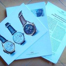 Herramientas de relojes: DOSSIER DE PRENSA DE RELOJES IWC 2003. Lote 40182162
