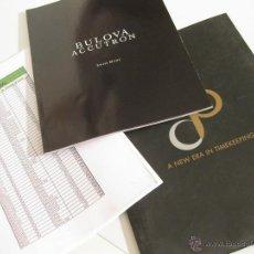 Herramientas de relojes: CATALOGO DE RELOJES BULOVA CON LISTA DE PRECIOS Y REFERENCIAS - 2010. Lote 42201517