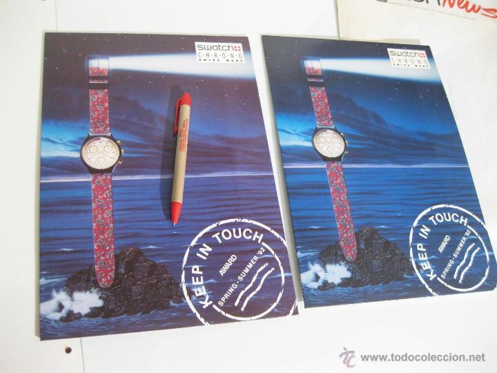 Herramientas de relojes: SOBRE DEL AÑO 1992 CON PUBLICIDAD DE SWATCH - CARTELES DE LA TEMPORADA PRIMAVERA VERANO - Foto 4 - 42202893