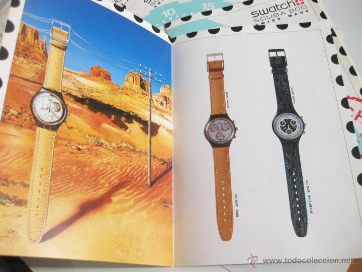 Herramientas de relojes: SOBRE SWATCH CON 4 CATALOGOS DE LA MARCA Y LISTA DE PRECIOS DE 1992 - CHRONO Y SCUBA 200 - Foto 6 - 42338722