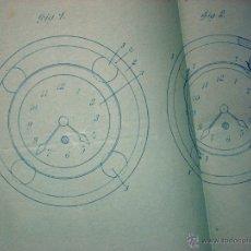 Herramientas de relojes: RELOJERIA - PATENTE RELOJES - 1912 - SOCIETE ECLA MEYER FRÈRES. Lote 42411931