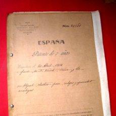 Herramientas de relojes: PATENTE RELOJERIA - 1914 - VICENTE FERRER Y COMPAÑIA. Lote 42412018