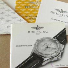 Herramientas de relojes: GUIA O MANUAL DE INSTRUCCIONES DEL RELOJ BREITLING CHRONO COCKPIT. Lote 42439281