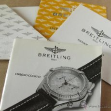 Herramientas de relojes: LIBRO GUIA O MANUAL DE INSTRUCCIONES DEL RELOJ BREITLING CHRONO COCKPIT . Lote 42439326