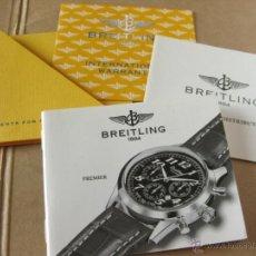 Herramientas de relojes: LIBRO GUIA O MANUAL DE INSTRUCCIONES DEL RELOJ BREITLING PREMIER. Lote 42439550