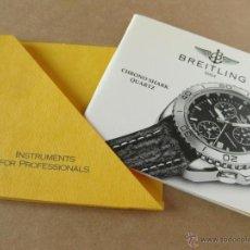 Herramientas de relojes: LIBRO GUIA O MANUAL DE INSTRUCCIONES DEL RELOJ BREITLING CHRONO SHARK QUARTZ. Lote 42439594