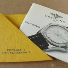 Herramientas de relojes: LIBRO GUIA O MANUAL DE INSTRUCCIONES DEL RELOJ BREITLING SIRIUS PERPETUEL. Lote 42439785