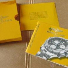 Herramientas de relojes: LIBRO GUIA O MANUAL DE INSTRUCCIONES DEL RELOJ BREITLING CHRONO COLT QUARTZ. Lote 42439959