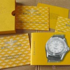 Herramientas de relojes: LIBRO GUIA O MANUAL DE INSTRUCCIONES DEL RELOJ BREITLING CALLISTINO. Lote 42440131