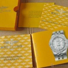 Herramientas de relojes: LIBRO GUIA O MANUAL DE INSTRUCCIONES DEL RELOJ BREITLING STARLINER. Lote 42440149
