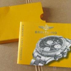 Herramientas de relojes: MANUAL DE INSTRUCCIONES PARA EL RELOJ BREITLING CHRONO COLT QUARTZ . Lote 42440374