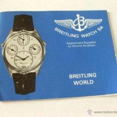 Herramientas de relojes: LIBRO GUIA O MANUAL DE INSTRUCCIONES DEL RELOJ BREITLING WORLD - 1987. Lote 42440721