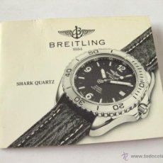Herramientas de relojes: LIBRO GUIA O MANUAL DE INSTRUCCIONES PARA EL RELOJ BREITLING SHARK QUARTZ. Lote 42440759