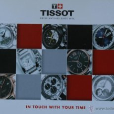 Herramientas de relojes: EXTENSO CATALOGO DE RELOJES TISSOT. Lote 42705175