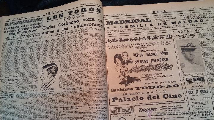 Herramientas de relojes: Ejemplares encuadernados del Diario IDEAL... 3-5-1956 al 16-11-1965 - Foto 14 - 43427820