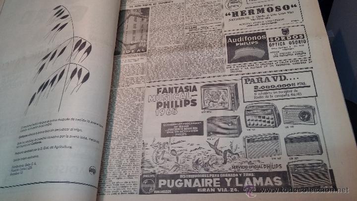 Herramientas de relojes: Ejemplares encuadernados del Diario IDEAL... 3-5-1956 al 16-11-1965 - Foto 18 - 43427820