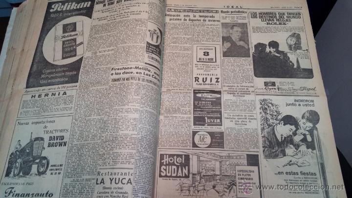Herramientas de relojes: Ejemplares encuadernados del Diario IDEAL... 3-5-1956 al 16-11-1965 - Foto 20 - 43427820