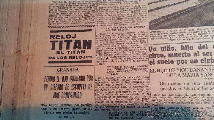 Herramientas de relojes: Ejemplares encuadernados del Diario IDEAL... 3-5-1956 al 16-11-1965 - Foto 22 - 43427820