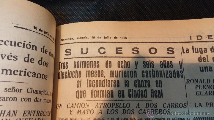 Herramientas de relojes: Ejemplares encuadernados del Diario IDEAL... 3-5-1956 al 16-11-1965 - Foto 26 - 43427820