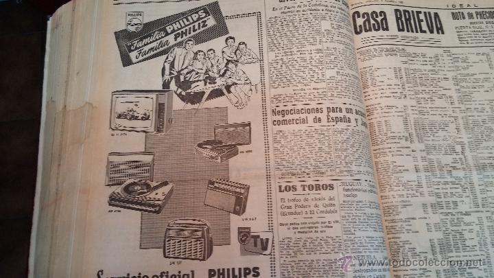 Herramientas de relojes: Ejemplares encuadernados del Diario IDEAL... 3-5-1956 al 16-11-1965 - Foto 34 - 43427820