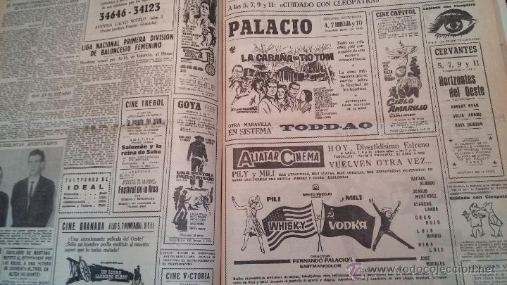 Herramientas de relojes: Ejemplares encuadernados del Diario IDEAL... 3-5-1956 al 16-11-1965 - Foto 35 - 43427820