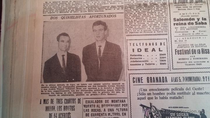 Herramientas de relojes: Ejemplares encuadernados del Diario IDEAL... 3-5-1956 al 16-11-1965 - Foto 36 - 43427820