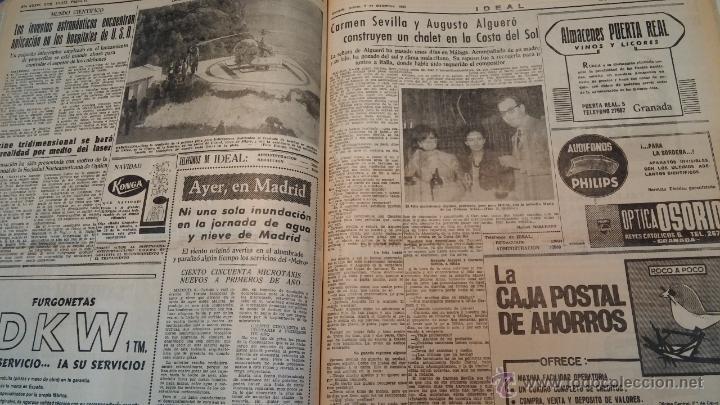 Herramientas de relojes: Ejemplares encuadernados del Diario IDEAL... 3-5-1956 al 16-11-1965 - Foto 37 - 43427820