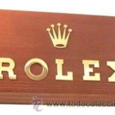 Herramientas de relojes: E098B LETRAS Y CORONA ROLEX SOBRE MADERA. Lote 26372623