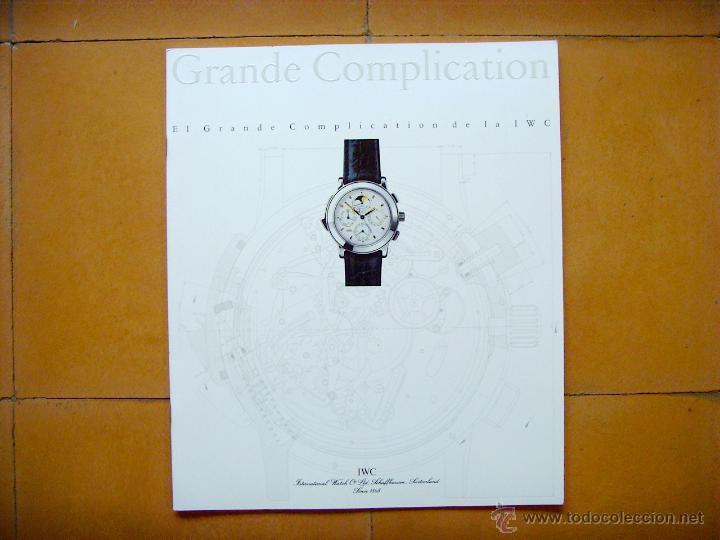 CATÁLOGO RELOJ IWC GRAN COMPLICATION (Relojes - Herramientas y Útiles de Relojero )