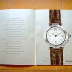 Herramientas de relojes: CATALOGO DE RELOJES CARTIER PASHA, AÑOS 80. Lote 45383972