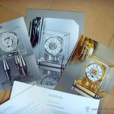 Herramientas de relojes: DOSSIER DE PRENSA RELOJES JAEGER-LECOULTRE ATMOS. Lote 45690239