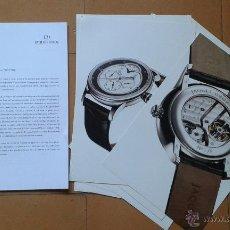 Herramientas de relojes: COMUNICADO DE PRENSA RELOJES JAQUET DROZ. Lote 46289824