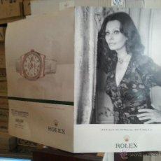 Herramientas de relojes: RELOJ ROLEX, PUBLIDAD GRAN TAMAÑO SOFIA LOREN , PAPEL DURO , . Lote 47589472