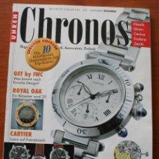 Herramientas de relojes: REVISTA DE RELOJES: UHREN CHRONOS 6/97 – CARTIER, FORTIS, OMEGA, EBERHARD & CO, IWC, FREDERIC PIGUET. Lote 47765920