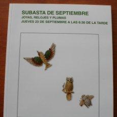 Strumenti di orologiaio: CATALOGO ESPECIAL ANTICUARIO CASA DE SUBASTAS MONOGRAFICAS SEGRE: JOYAS RELOJES PLUMAS. Lote 47815008