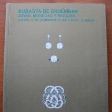 Herramientas de relojes: CATALOGO ESPECIAL ANTICUARIO CASA DE SUBASTAS MONOGRAFICAS SEGRE: JOYAS, MONEDAS Y RELOJES . Lote 47868872