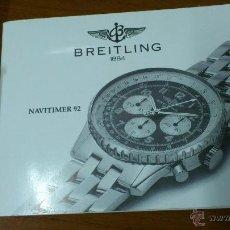 Herramientas de relojes: INSTRUCCIONES DE FUNCIONAMIENTO RELOJ BREITLING NAVITIMER 92. Lote 48313557