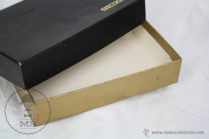 Herramientas de relojes: Caja de Reloj Seiko Quartz - Medidas 15,5 x 9,5 x 3 Cm - Foto 4 - 123400943