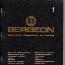 Herramientas de relojes - MANUALES BERGEON Nº 1 Y Nº 2 - TODAS LAS REFERENCIAS EN 4 IDIOMAS AÑO 2004 ¡¡¡ NUEVOS SIN USO!! - 49682438