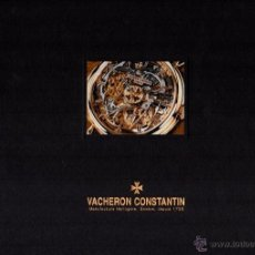 Herramientas de relojes: GRAN LIBRO VACHERON CONSTANTIN - PASION POR LOS RELOJES COMPLICADOS - 97 PAGINAS.. Lote 49682517