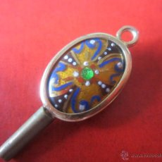 Herramientas de relojes: LLAVE DE ORO Y ESMALTE DEL Nº 5 PARA RELOJ DE BOLSILLO. Lote 51048574