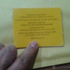 Herramientas de relojes: INSTRUCCIONES Y CARCULO DEL RELOJ BREITLING INSTRUCTIONS FOUR M L·UTILISATION DE LA REGLE A CALCU. Lote 51124974