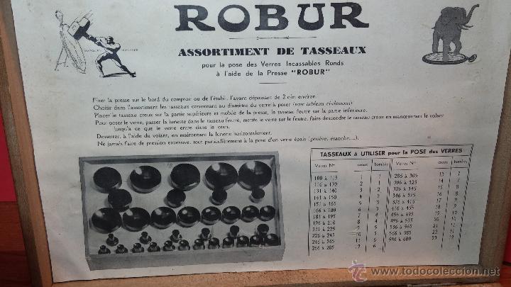 Herramientas de relojes: Juego de tases y prensa antiguos para poner tapaderas a los relojes - Foto 24 - 53390835