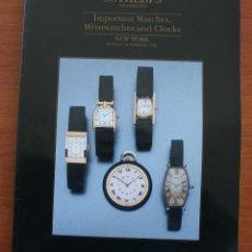 Strumenti di orologiaio: CATALOGO DE RELOJES ALTA GAMA SUBASTAS SOTHEBY´S: IMPORTANT WATCHES, WRISTWATCHES AND CLOCKS. Lote 55027756
