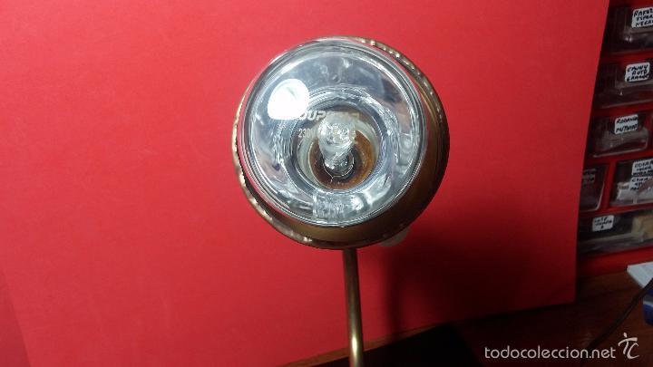 Herramientas de relojes: Antigua lámpara de trabajo de relojería en metal bronce y con partes de cerámica - Foto 8 - 56512868
