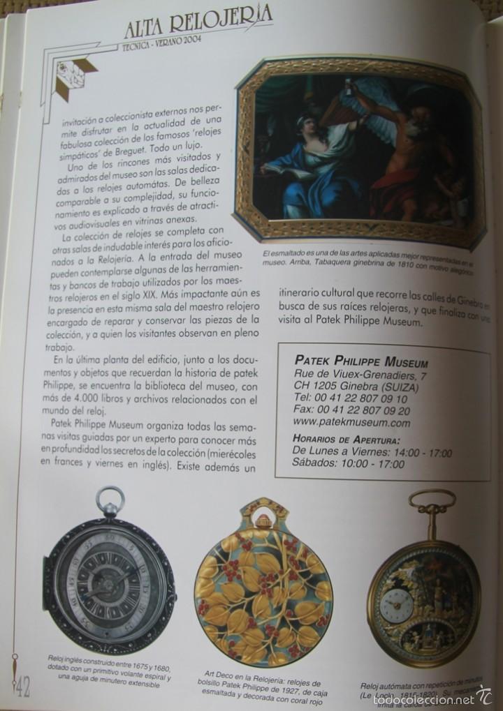 Herramientas de relojes: ALTA RELOJERIA LA REVISTA DE LA ALTA GAMA DE LA RELOJERIA ILUSTRACIONES Y DESCRIPCIONES 114 PAGINAS - Foto 4 - 59637835