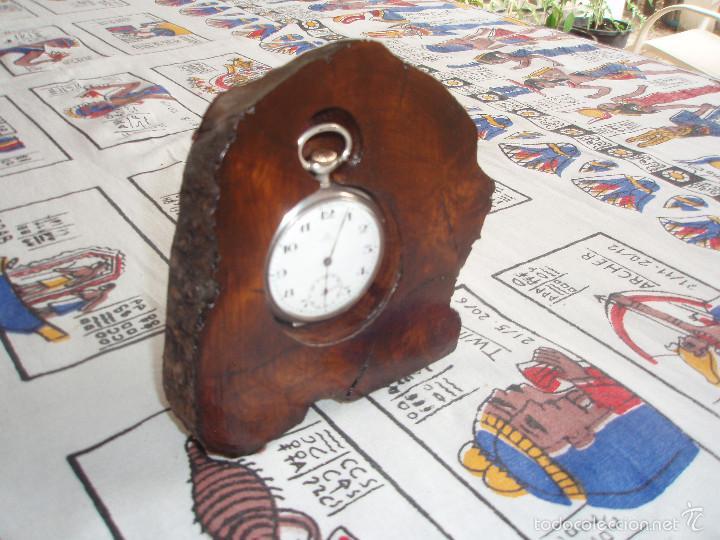 Herramientas de relojes: RELOJERA PARA RELOJ DE BOLSILLO DE MADERA tronco - Foto 2 - 59891351